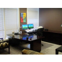 """AE2401-Wood Veneer-Electric DESK with Computer Return. """"Sit Stand"""" Technology"""