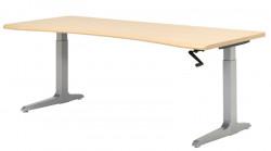 Sierra SCFHXL Rectilinear CRANK Height Adjust Desk, Table