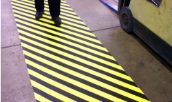 "DuraStripe Supreme V Hazard Striping- 2"" - 34"" Wide Aisle Striping"