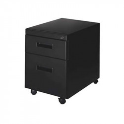 Mobile Box/File Pedestal with Lock and Locking Casters