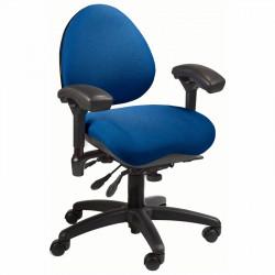 "J756A-SS BodyBilt ""Petite"" Person Ergonomic Mid Back Task Chair"