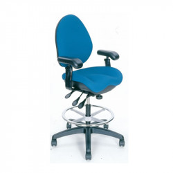 BodyBilt Ergonomic Task Stool with Armrests