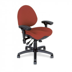 Z757-SS BodyBilt Ergonomic Mid Back Task Chair. - Medium Contour Seat
