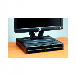 "VU2455 1"" High Monitor Risers - Black"