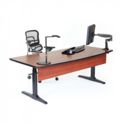 AE3402-LA Laminated - Executive Bow Front - Electric Sit Stand Desk