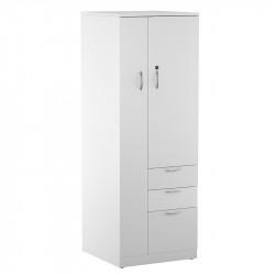 Wardrobe Storage Tower with Locker and Coat Closet