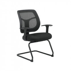 ErgoLogic Conference Room Chair - Mesh Seat and Back - Sled Base